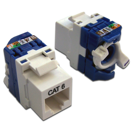 Модуль Keystone Tooless, RJ-45, кат.6, UTP, 180 градусов, белый