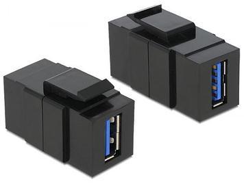 Модуль Keystone, USB 3.0, тип A, мама-мама,  черный