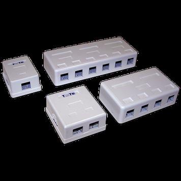 Настенная коробка 2 порт. для Keystone