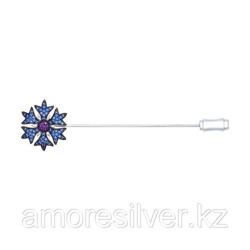 Брошь SOKOLOV серебро с родием, фианит, флора 94040112