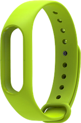 Силиконовый ремешок Untamo для фитнес трекера Xiaomi Mi Band 2, зеленое яблоко