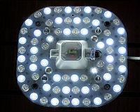 Светодиодная плата панель, 17х17 см (3 типа свечения)