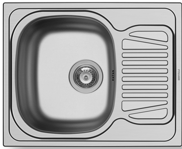 Кухонная мойка Pyramis Sparta 62x50 1B 1D REV 18/10 SMOOTH
