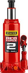 "Домкрат гидравлический бутылочный ""RED FORCE"", 2т, 181-345 мм, STAYER"