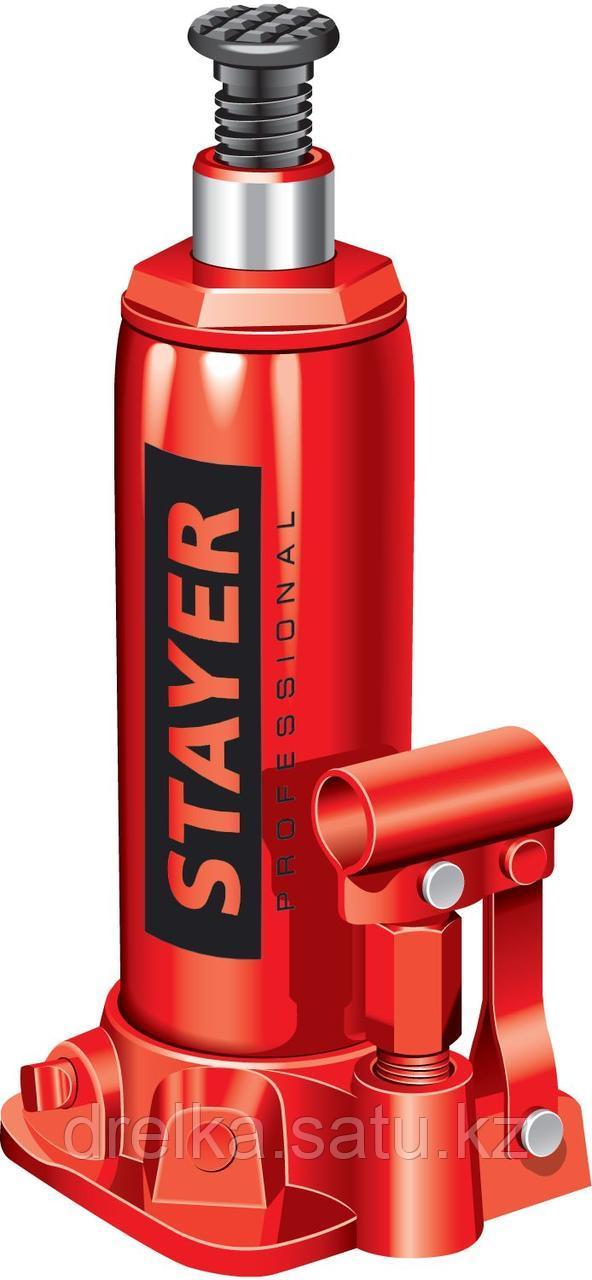 "Домкрат гидравлический бутылочный ""RED FORCE"", 8т, 230-457 мм, STAYER"
