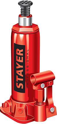 "Домкрат гидравлический бутылочный ""RED FORCE"", 8т, 230-457 мм, STAYER, фото 2"