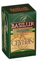 Чай зелёный пакетированный Остров Цейлон Зеленый Green, 20пак Basilur