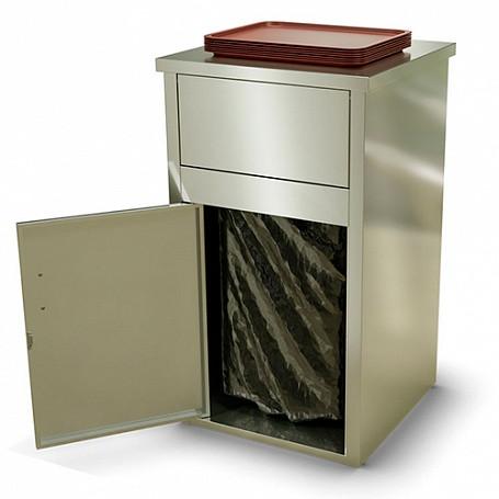 Урна для фуд-корта УФ-610/220 (610х610х1065мм, макс. размер помещаемой ёмкости 480х540х670мм, 220л)