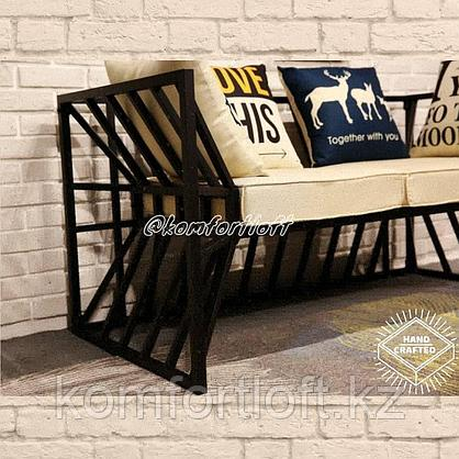 Комплект мебели на металлическом каркасе (Лофт), фото 3