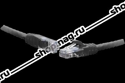 Коммутационный шнур U/UTP 4-х парный cat.6 7.5м. PVC standart чёрный
