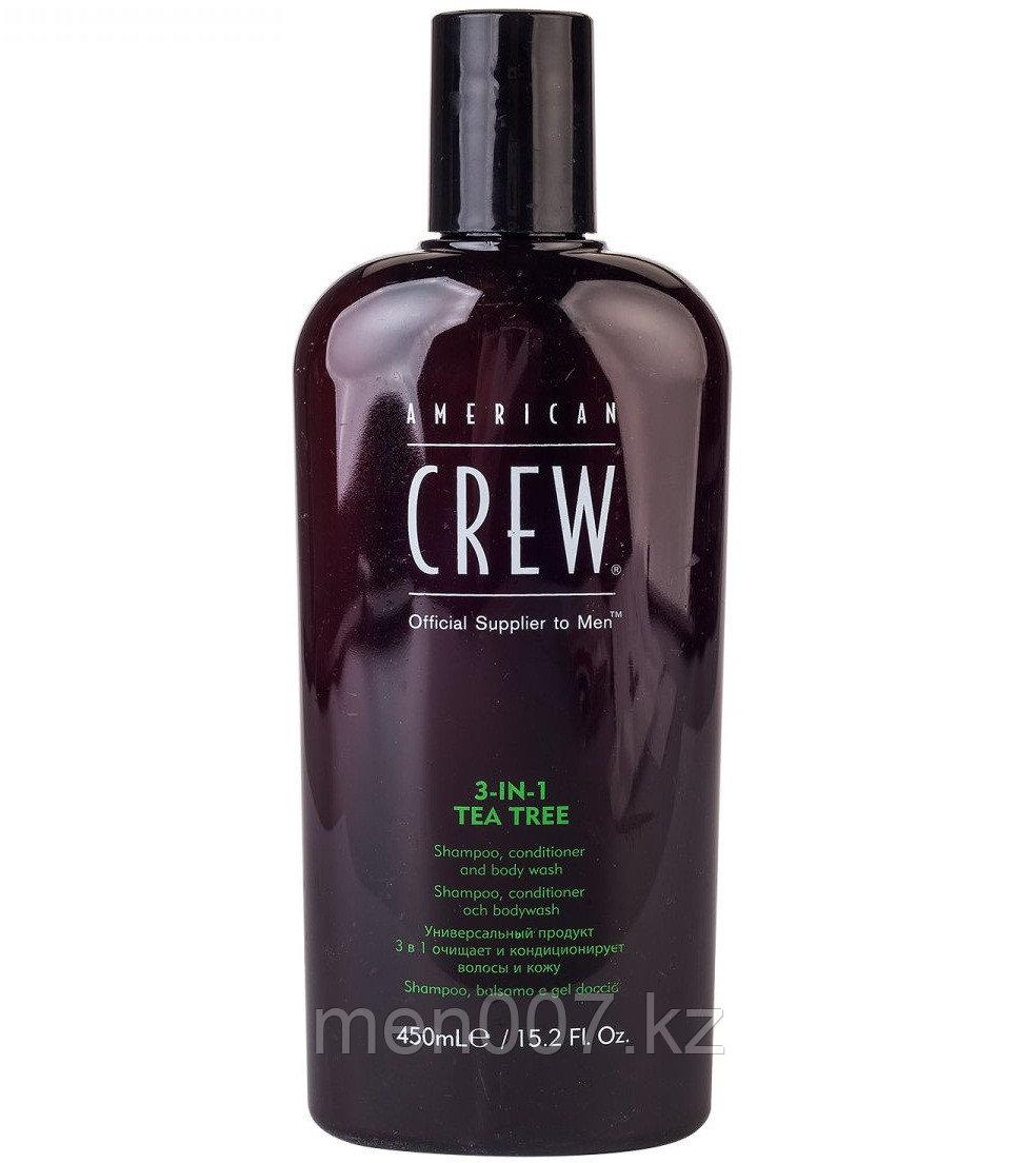 American Crew Tea Tree 3-in-1 (Шампунь, кондиционер и гель для душа 3в1) 450 мл