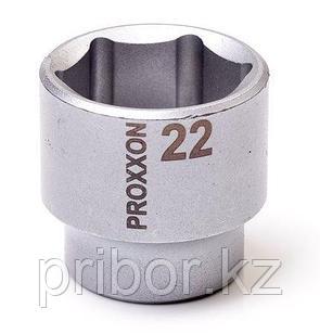"23528 Proxxon Торцевая головка на 3/8"", 22 мм"