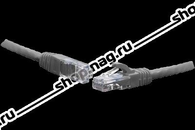 Коммутационный шнур U/UTP 4-х парный cat.6 10.0м PVC standart серый