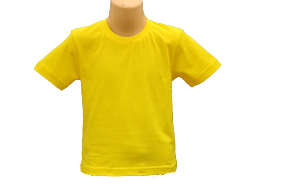 Детская Футболка, Желтый