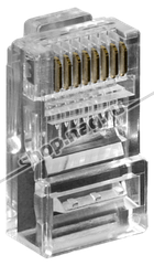 Коннектор RJ-45 8P8C cat.6 (100 шт)