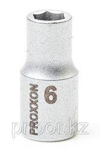 "23714 Proxxon Торцевая головка на 1/4"", 6 мм"
