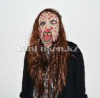 Латексная маска на хэллоуин зомби с ожогами 011
