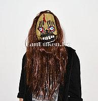 Латексная маска на хэллоуин зомби-череп с кровавыми глазами 030