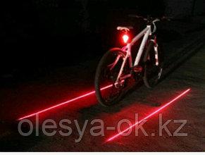 Фонарь велосипедный с лазерным обозначением габаритов, 5 Led + 2 лазера, 2хААА// Stern, фото 2