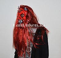 Латексная маска на хэллоуин с рогами 050
