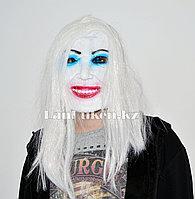Латексная маска на хэллоуин белое лицо призрака 07
