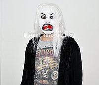 Латексная маска на хэллоуин злой призрак с разинутой пастью 03