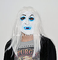 Латексная маска на хэллоуин злой призрак с клыками вампира 06