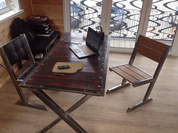 """Стол """"Х"""" в стиле Loft, фото 2"""
