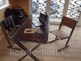 "Стол ""Х"" в стиле Loft"