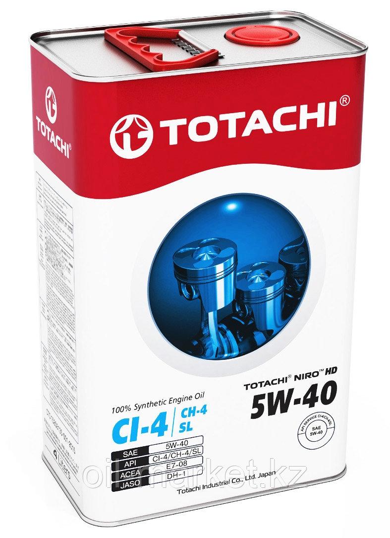 Моторное масло TOTACHI NIRO HD Synthetic API CI-4, CH-4 / SL 5W-40 4L