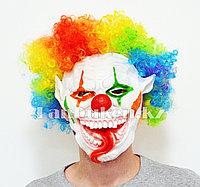 Латексная маска на хэллоуин ужасный клоун с длинным языком 02