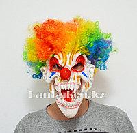 Латексная маска на хэллоуин ужасный клоун - череп 03