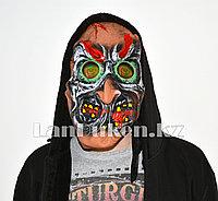 Латексная маска на хэллоуин злобное существо с 3D линзами 01