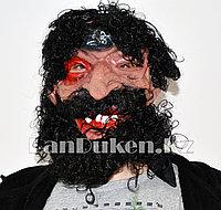Латексная маска на хэллоуин пират черная борода