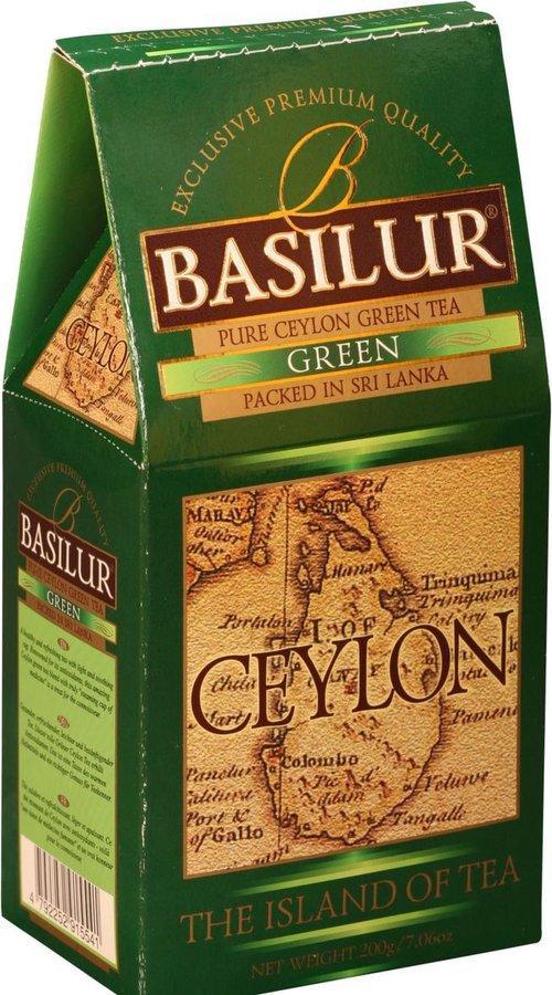 Чай зелёный рассыпной Остров Цейлон Зеленый Green, 200гр Basilur