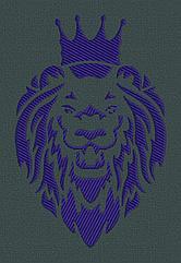 Lion . Дизайн машинной вышивки