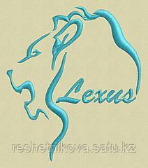 Lexus Lion . Дизайн машинной вышивки