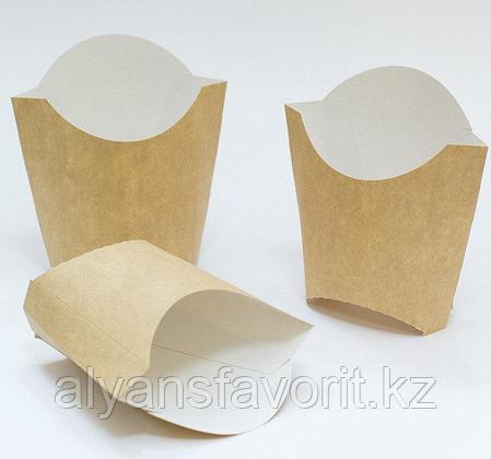 Коробка для картофеля фри Eco Fry M, размер 50*100*120 мм. РФ, фото 2