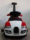 Толокар Bugatti с родительской ручкой, фото 4