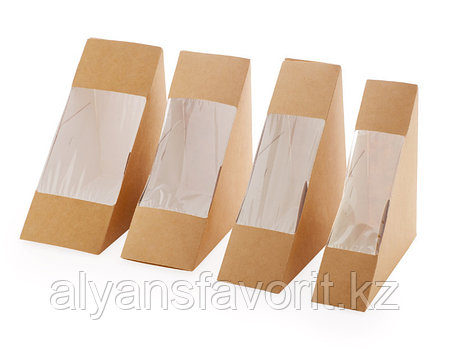 Упаковка для сендвичей ECO SANDWICH 60, размер: 130*130*60 мм. РФ, фото 2