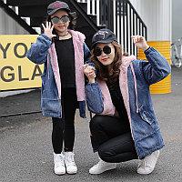 Куртка женская и детская , ПАРКа джинсовая