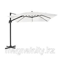 Зонт уличный квадратный Lux с чехлом (3х3м), бежевый(с утяжелителями)