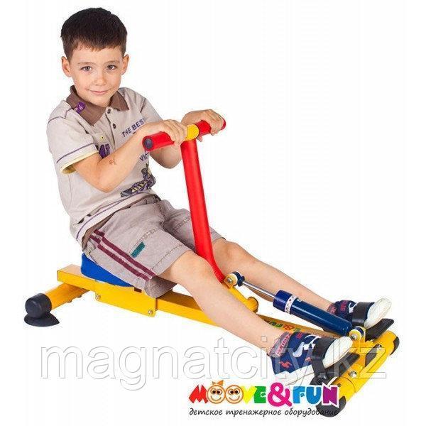 Тренажер детский механический гребной с одной рукояткой 3-8 лет