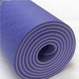 Коврики для йоги (61х183х0.6 см) TPE, с чехлом , фото 3