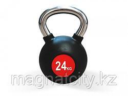 Гиря 24 кг с хромированной ручкой  FT-KB-24K
