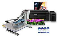 Планшетный термопресс INKSYSTEM (38x38cм) и принтер Epson L132 с набором для сублимационной печати