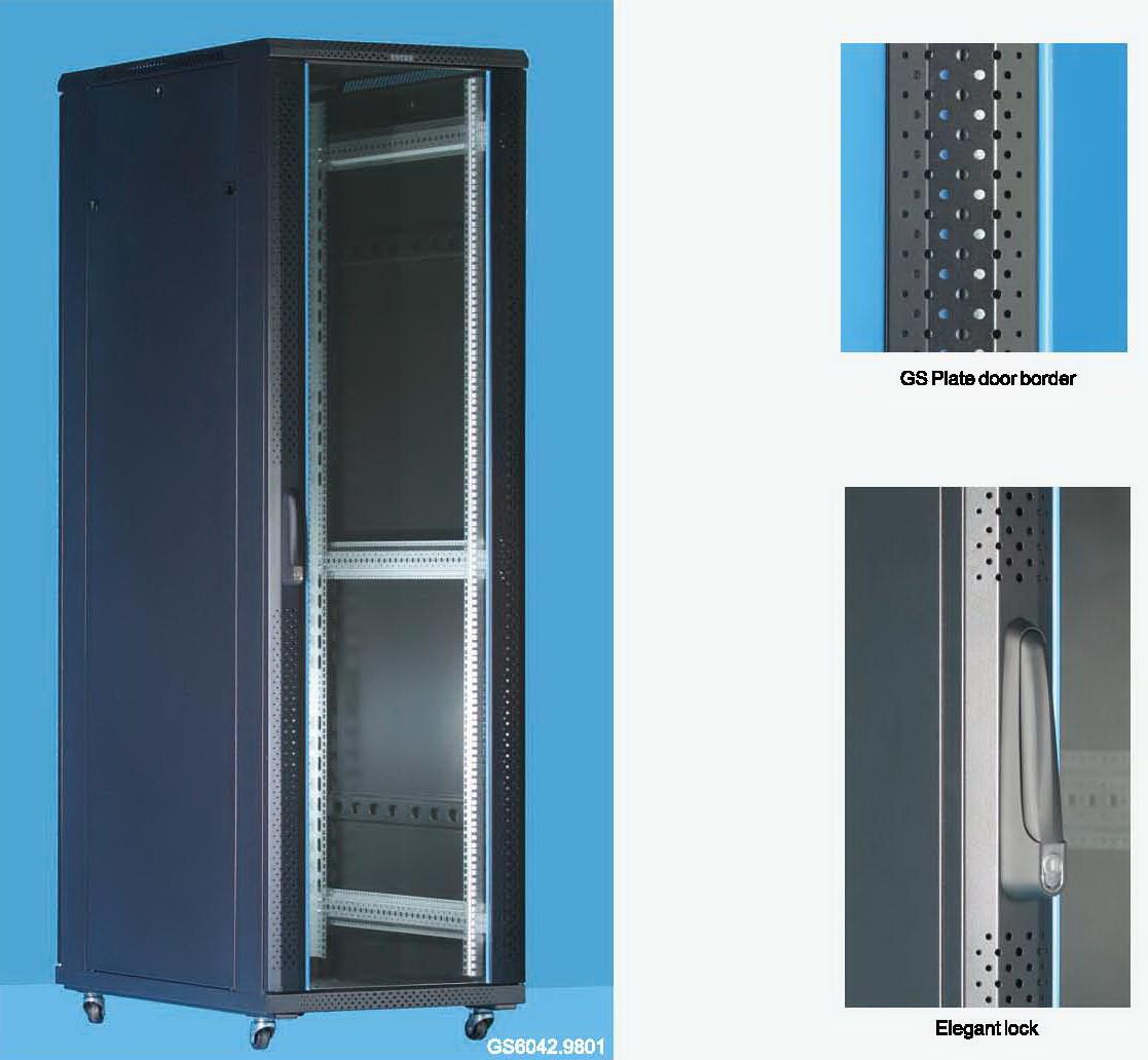 """Server case Toten GS8042.8101 Шкаф серверный 19"""" 42U, 800*1000*2055 черный"""