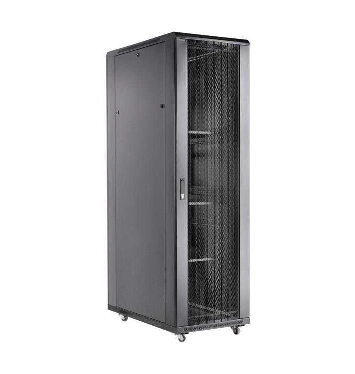 """Toten AD.6022.9101 Шкаф серверный 19"""" 22U, 600*1000*1166 черный (перф., блок вентиляторов)"""