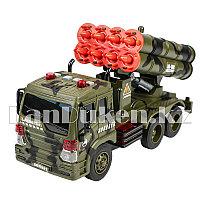 Детская музыкальная игрушка военная машина с ракетной установкой М-012 Wenyi зеленый