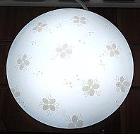"""Светильник LED c плафоном, """"Серые цветочки"""", D 27 см"""
